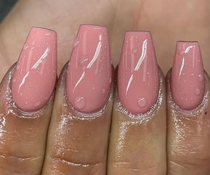 beauty, manicure, and pink nails image