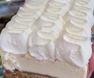 cheesecake, dessert, and whipped cream image