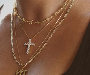 jewelry, necklace, and cross image