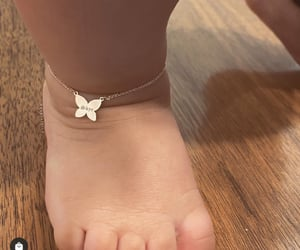 butterfly, jewelry, and anklet image