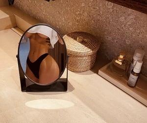 body, mirror, and bikini image