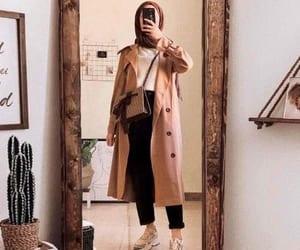 bag, girl, and hijab image