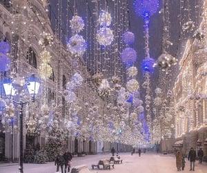 christmas, lights, and moscow image