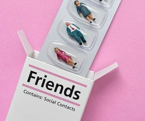 friends, pink, and pills image