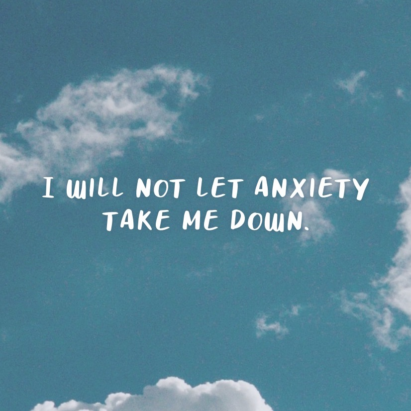 affirmation, anxiety, and positive thinking image