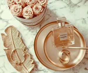 chanel, flowers, and rose gold image
