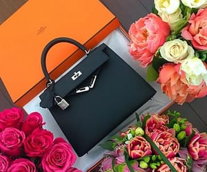 bag, rose, and black image
