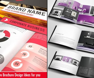 graphic design, brochure design, and creative brochure design image