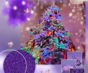 tree, christmas, and purple image