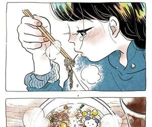 女の子, ラーメン, and イラスト image