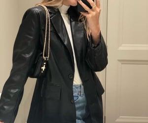 bag, denim, and fit image