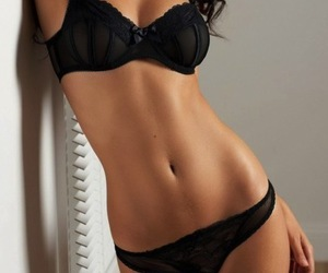 belly, lingerie, and thinspo image