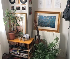 aesthetic, guitar, and plants image