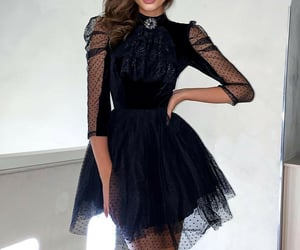 black, dresses, and fashion image
