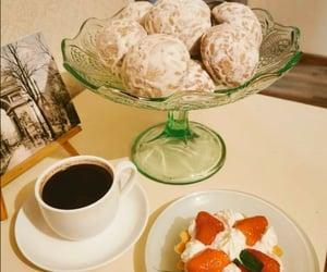 coffee, honey, and strawberry image
