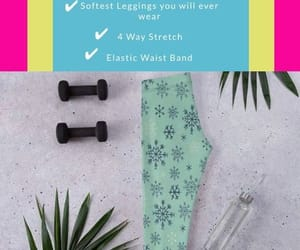 snowflake, winter, and winter leggings image