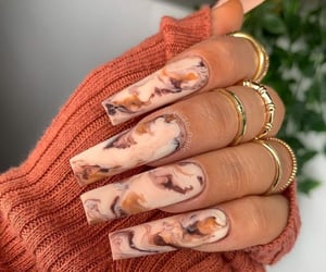 nails, acrylic nails, and instagram image
