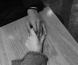 couple, black and white, and tumblr image