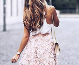 hair, style, and dress image