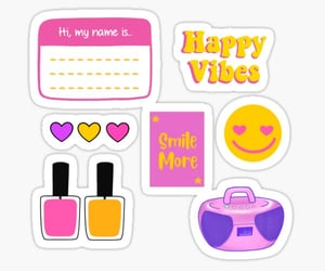 girly, stickers, and study image