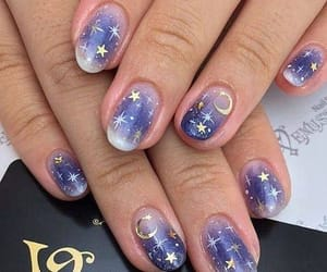 nails, moon, and nail art image