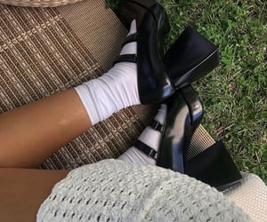 black heels, shoes, and summer inspo image