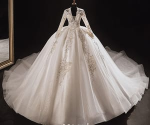 bridal, girl, and tulle wedding gown image