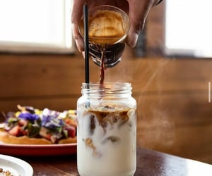 coffee, milk, and morning image