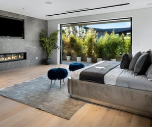 fireplace and master bedroom image