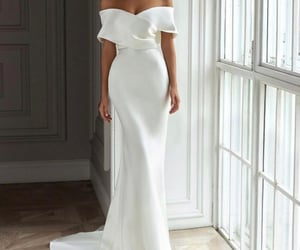 bride, classy, and dress image