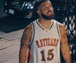 beard, Drake, and Tattoos image