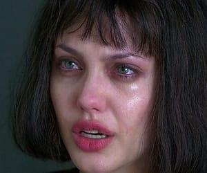 Angelina Jolie, crying, and cry image