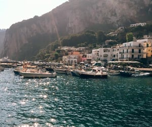 travel, sea, and boat image