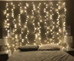 lights, decor, and stars image