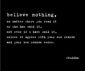 believe, Buddha, and quote image