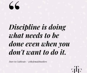 discipline, empowerment, and quote image