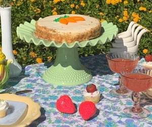 cake, carrot cake, and desserts image