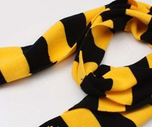 ladies shawl and black and yellow scarf image