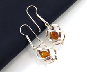etsy, natural stone, and amber earrings image