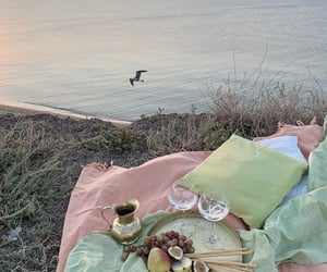 picnic, sunset, and aesthetic image
