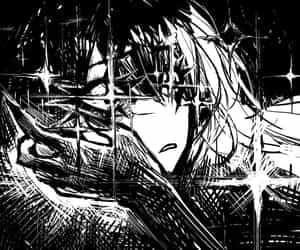aestetic black white image