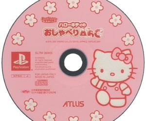 cd, disc, and hello kitty image