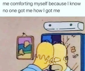 alone, comfort, and funny image