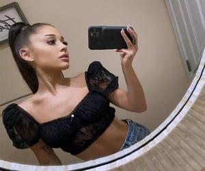 mirror, selfie, and ariana grande image