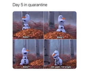 funny, olaf, and love image