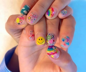 colors, nail art, and clear nails image