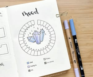 mood tracker, bullet journal, and bujo ideas image
