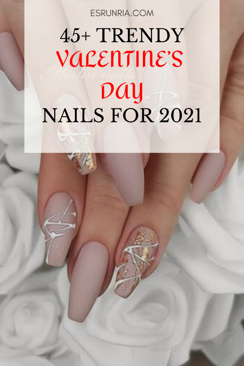 article, nails, and valentines day nails image