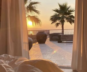 sunset, bedroom, and home image
