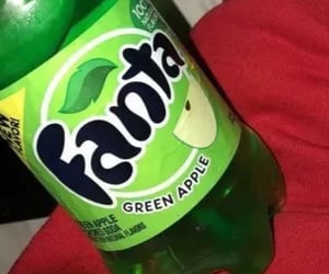 apple, green apple, and soda image